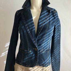 Baccini Denim Blazer/Jacket Size-XS